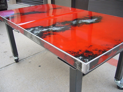 Slade's Red '87 Chevy Table