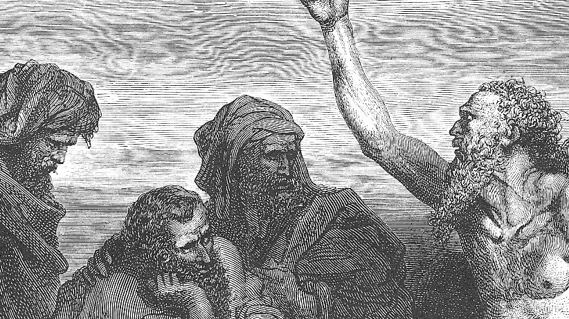 Job and Friends by Gustave Doré (1832-1883)