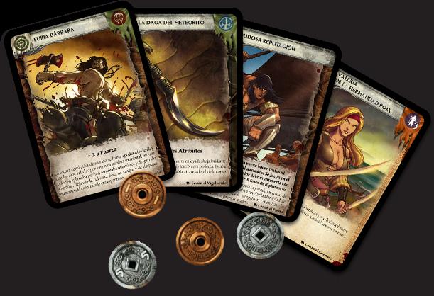 Cartas y monedas de Conan: el juego de cartas