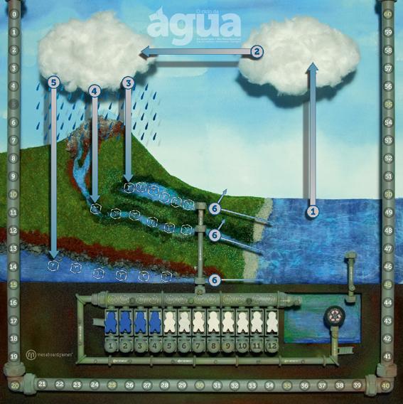 El tablero de O ciclo da Agua
