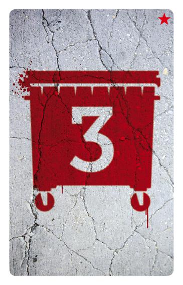 Un contenedor rojo de valor 3