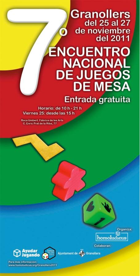 Cartel del 7º Encuentro Nacional de Juegos de Mesa
