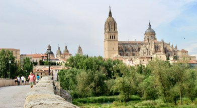A view of the city of Salamanca from the Roman bridge