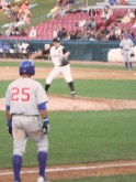Javy Baez leads off of third for the Peoria Chiefs