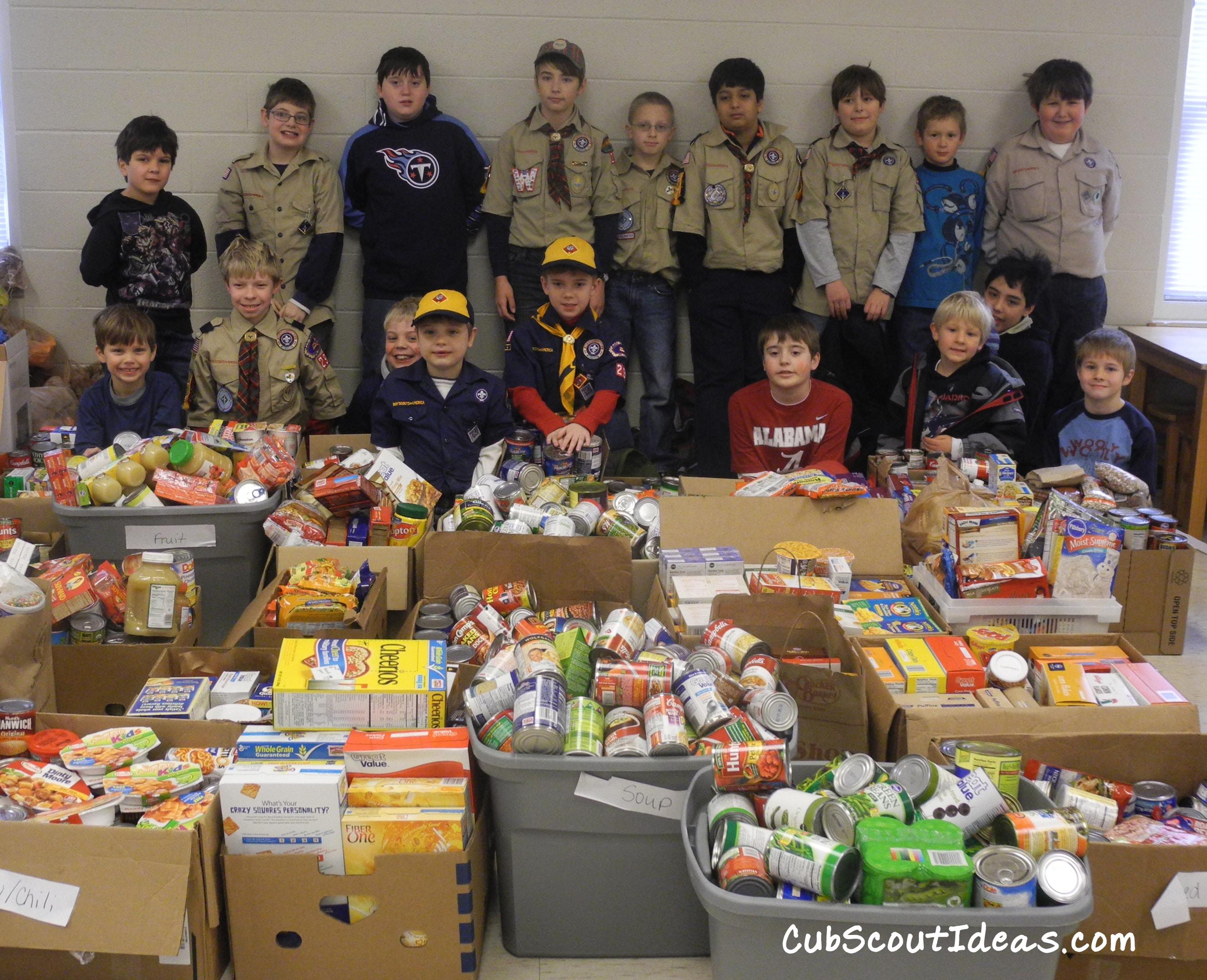 Cub Scout Nutrition Games