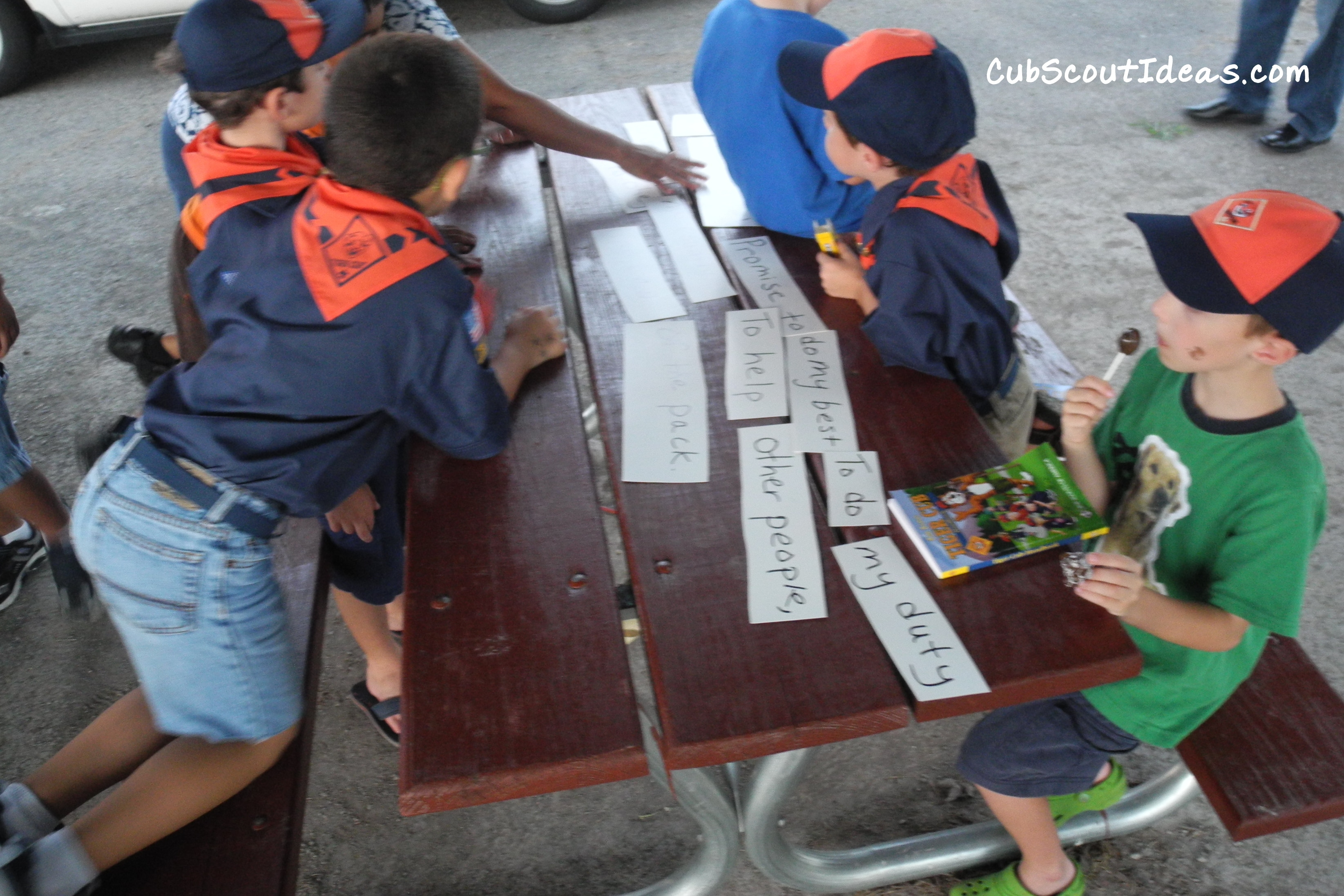Cub Scout Activities Promise Puzzle Game