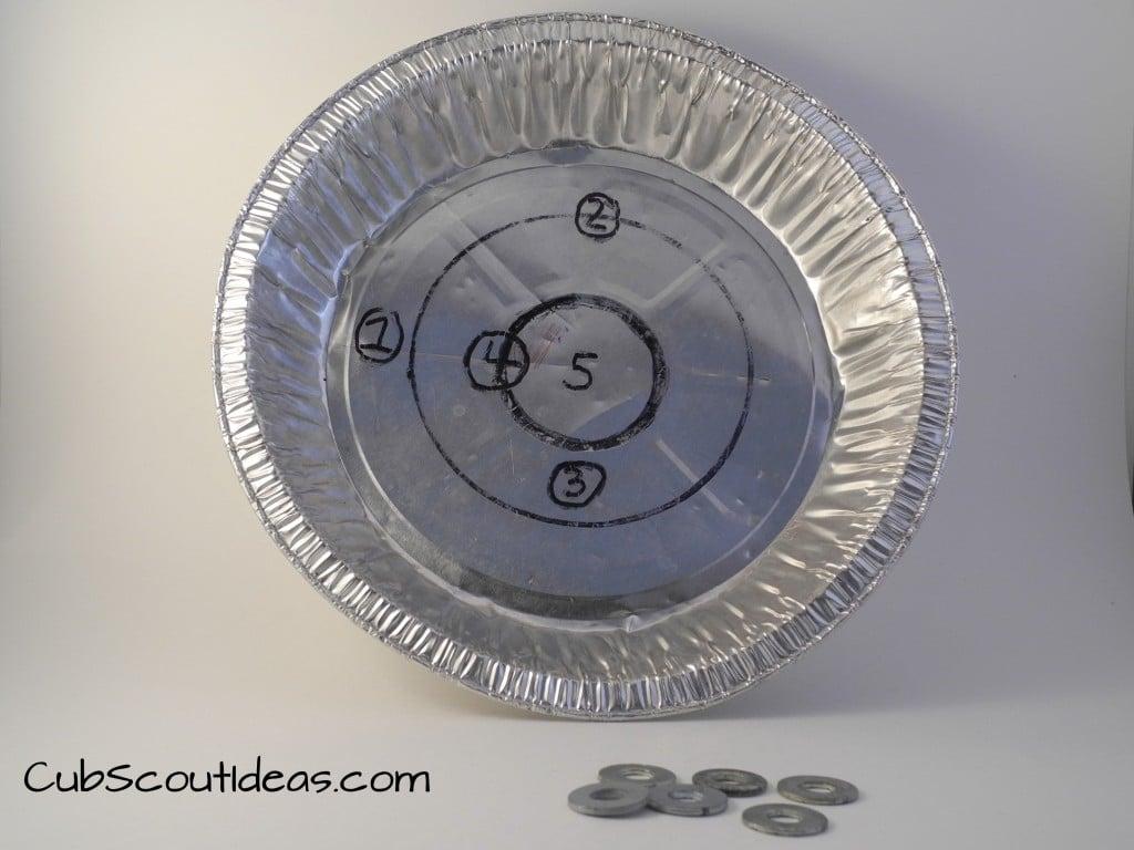 Cub Scout Gathering Ideas Pie Plate Pitch