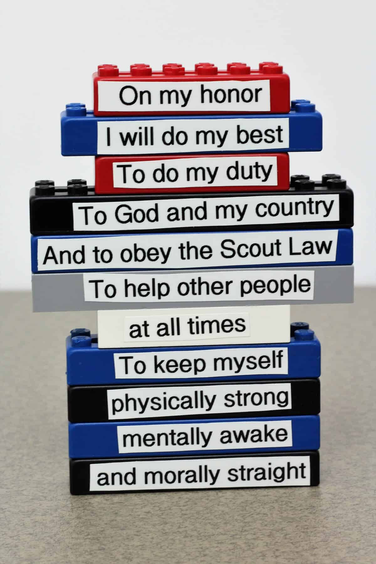 How To Easily Learn The Scout Oath And Law With Legos