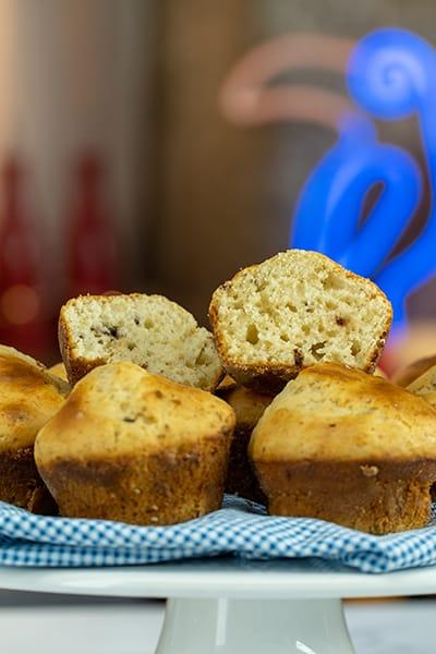 Muffins com pedaços de chocolate