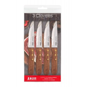 cuchillos de mesa 3 claveles