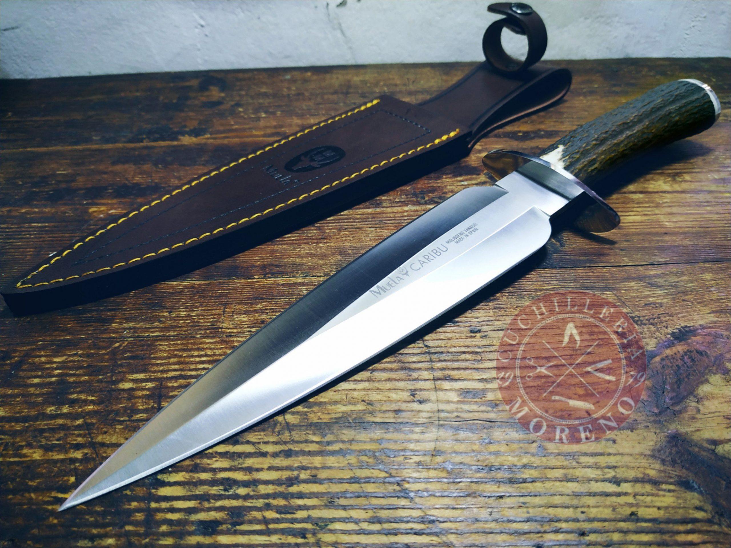 cuchillo de remate caza muela caribu a