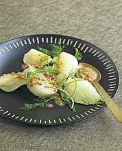 Finocchi al vapore con salsa citronette alla senape