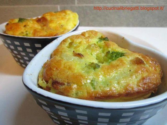 Clafoutis salato con broccoli guanciale e pecorino