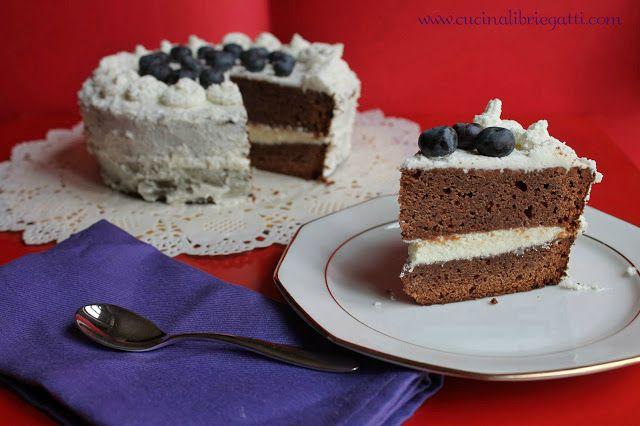 Mud cake al cioccolato con ganache al cioccolato bianco