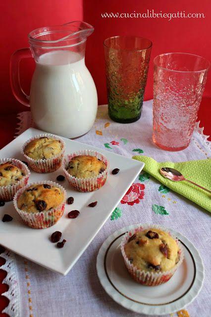 ricetta muffin ai mirtilli rossi essiccati cramberry