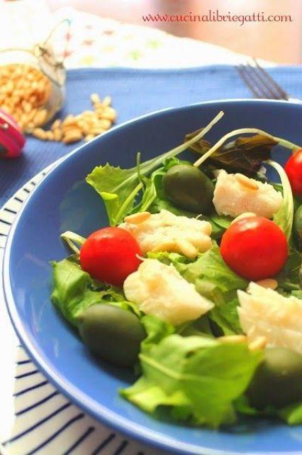 insalata di merluzzo con olive pinoli pomodo riricetta