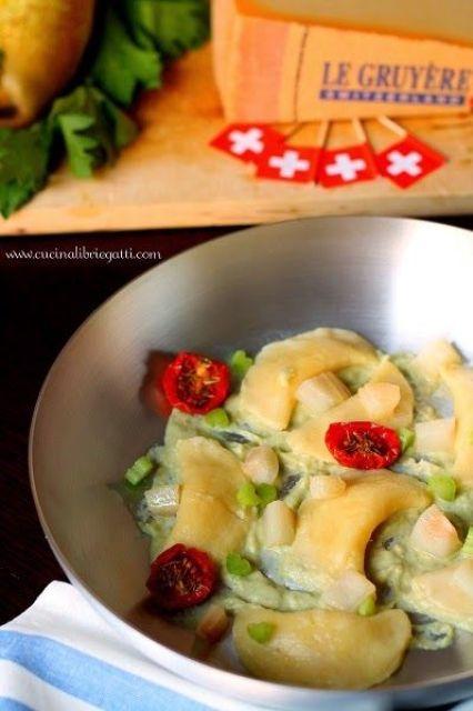 gnocchi ripieni formaggio crema sedano pere ricetta