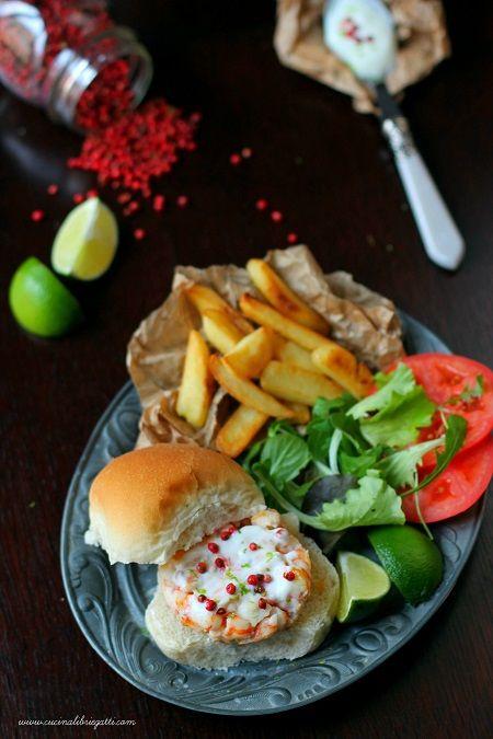 hamburger gamberi lime
