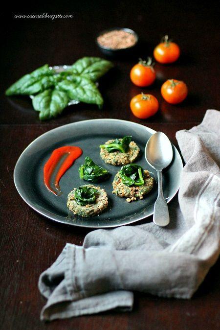 burger di lenticchie e spinaci