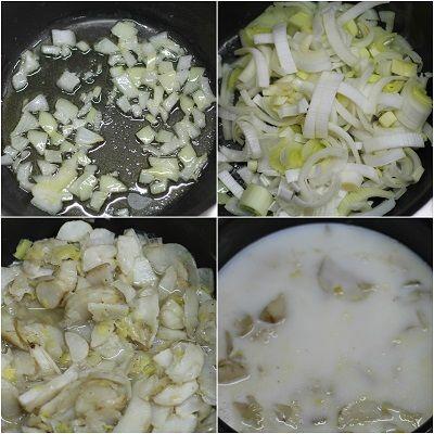 Zuppa di topinambur con pesto di spinaci e mandorle