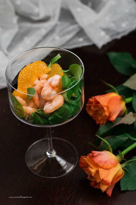 Cocktail di gamberi e arancia