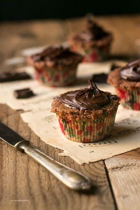 cupcake banana e cioccolato