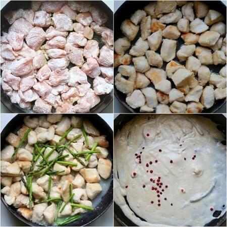 Bocconcini di tacchino e asparagi con salsa allo yogurt
