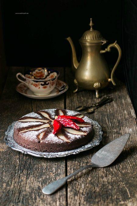 torta rovesciata di pere e cioccolato
