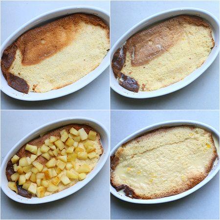 Torta di pandoro e mele alla cannella