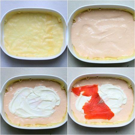Lasagne con crema al salmone e burrata