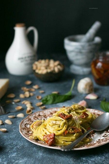 pasta al pesto di pistacchi