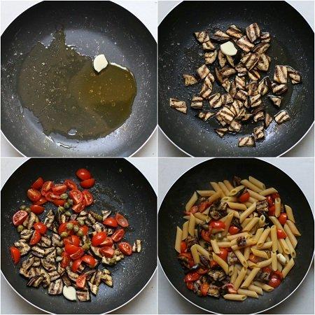 come preparare la pasta con le melanzane