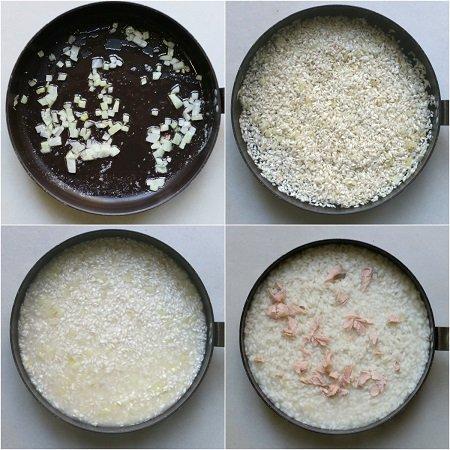 come fare il risotto al salmone