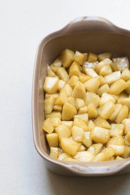come servire il crumble di mele