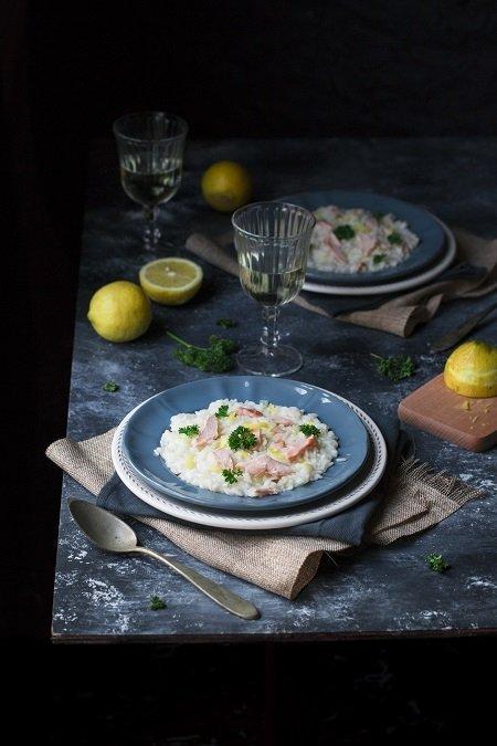 ricetta risotto al salmone