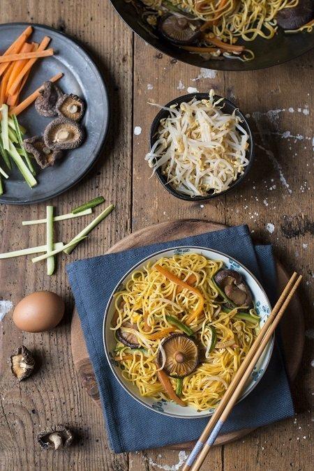 spaghetti di riso cinesi
