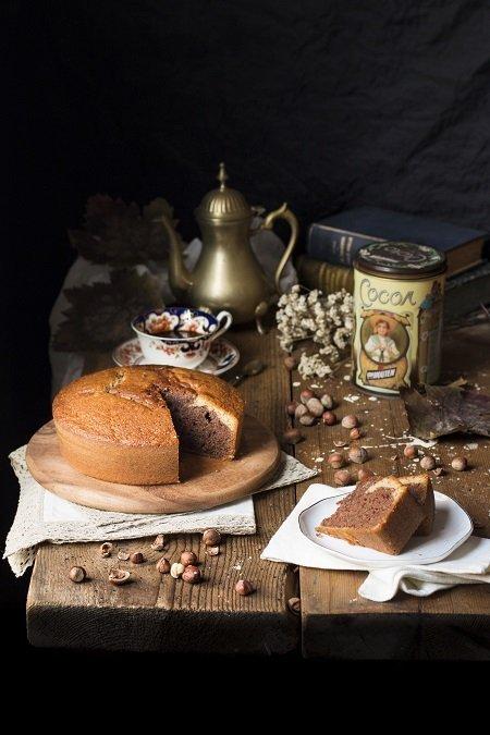 torta con nocciole e cacao
