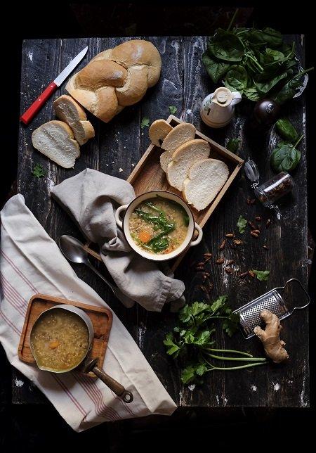zuppa di quinoa con verdure