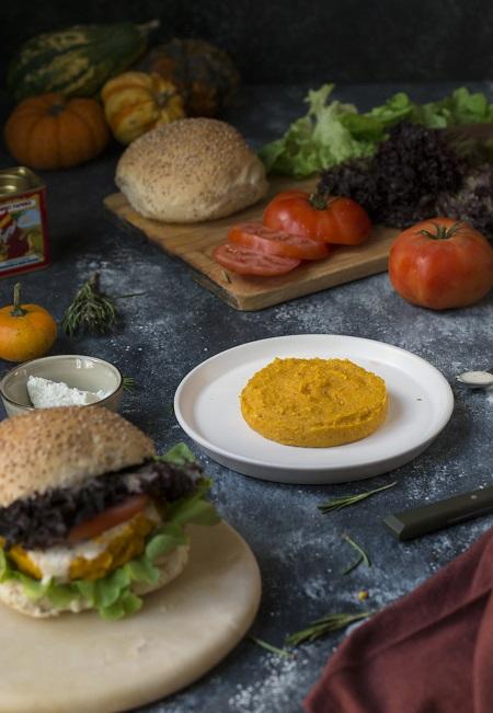 burger di zucca e ceci