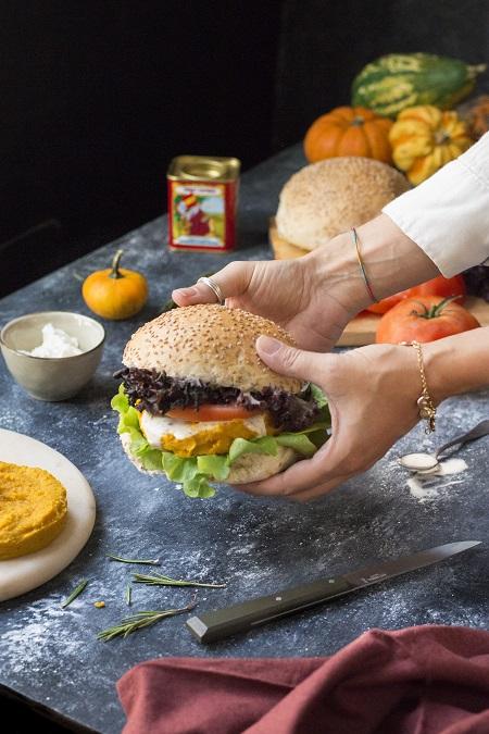 ricetta burger di zucca