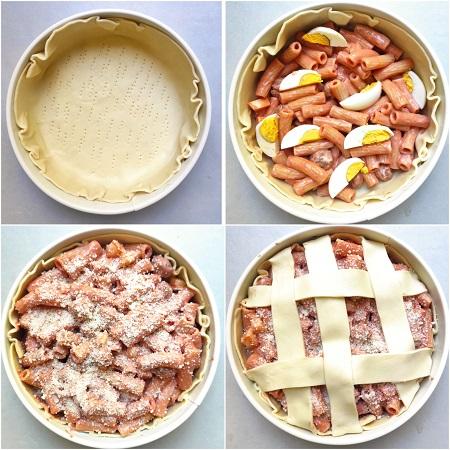 come si fa il timballo di pasta in crosta