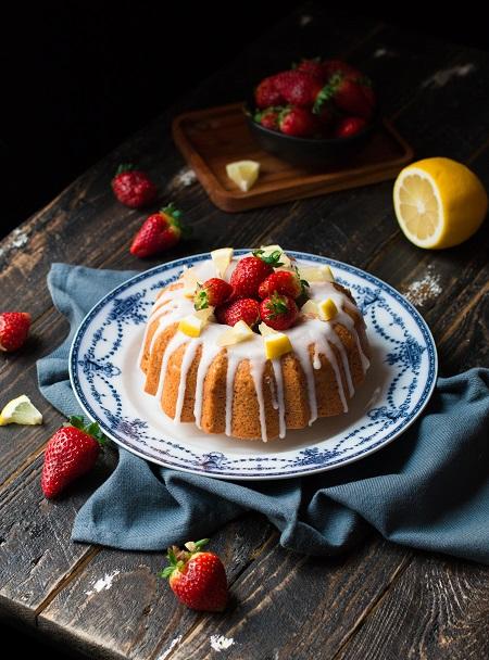 torta di fragole e limone