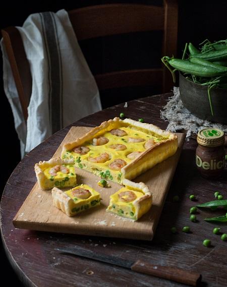 torta salata piselli
