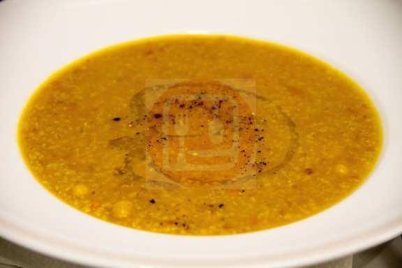 Zuppa calda di Farro