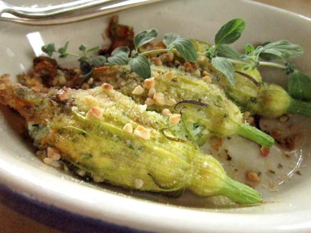 Fiori di zucchine ripieni, senza glutine né latticini