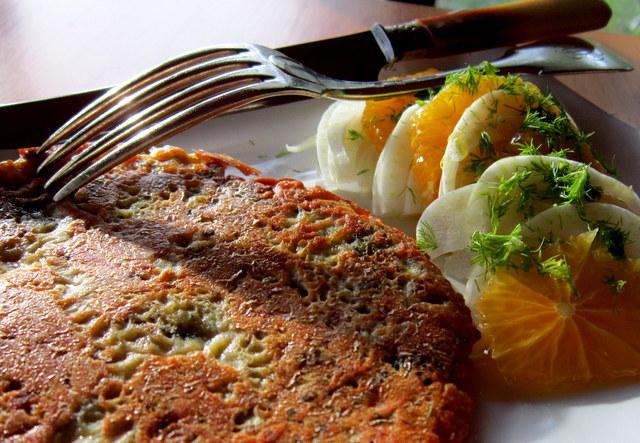Broccoli in crêpe di farina di ceci