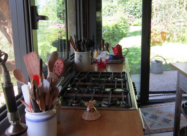 La mia cucina, come un giardino.