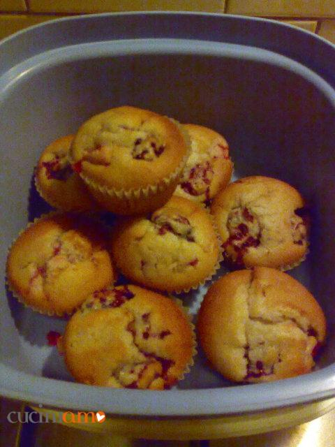 Muffin yogurt e frutti di bosco