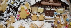 Torta paesaggio natalizio