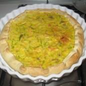 Torta salata porri e salmone (foto)